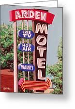 Arden Motel Greeting Card