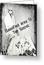 Area 51 Declassified Greeting Card