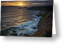 Ares Estuary Mouth Galicia Spain Greeting Card