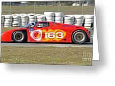 Argo Mazda Gtp Race Car At Sebring Raceway Greeting Card