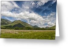 Argyll And Bute Panorama Greeting Card by Antony McAulay