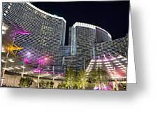 Aria Light - Aria Resort And Casino At Citycenter In Las Vegas Greeting Card