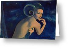 Aries From Zodiac Series Greeting Card by Dorina  Costras