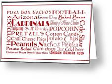 Arizona Cardinals Game Day Food 3 Greeting Card