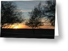 Arizona Desert Sunrise Greeting Card