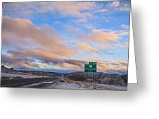 Arizona Highway Sunset Greeting Card by Anthony Citro