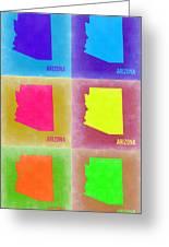 Arizona Pop Art Map 4 Greeting Card