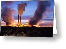 Arizona Power Plant Greeting Card