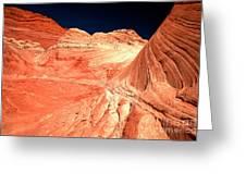Arizona Sandstone Waves And Lines Greeting Card