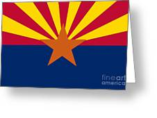 Arizona State Flag Authentic Color And Scale Version Greeting Card