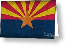 Arizona State Flag Greeting Card by Pixel Chimp