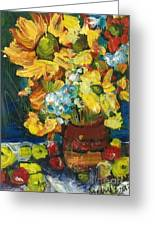 Arizona Sunflowers Greeting Card by Sherry Harradence