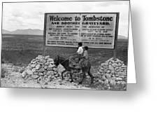 Arizona Tombstone, 1937 Greeting Card