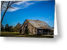 Arkansas Barn And Blue Skies Greeting Card by Jim McCain