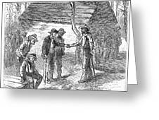 Arkansas Hot Springs, 1878 Greeting Card