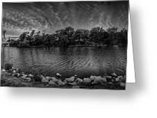 Arkansas River Panorama Greeting Card by  Caleb McGinn