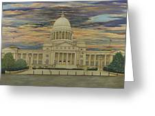 Arkansas State Capitol Greeting Card by Mary Ann King