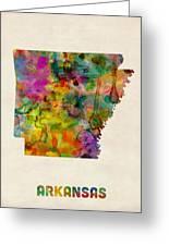 Arkansas Watercolor Map Greeting Card