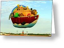 Arky Hot Air Balloon Greeting Card