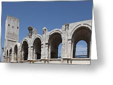 Arles Roman Arena Greeting Card