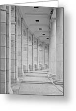 Arlington Amphiteather Arches And Columns Greeting Card