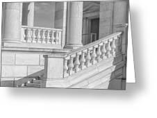 Arlington Memorial Amphitheater  Bw Greeting Card