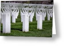 Arlington National Cemeterey Greeting Card by Susan Candelario