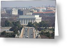 Arlington National Cemetery - View From Arlington House - 12123 Greeting Card