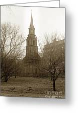 Arlington Street Church Unitarian Universalist Boston Massachusetts Circa 1900 Greeting Card
