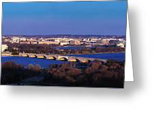 Arlington, Va - Wash D.c. - Panoramic Greeting Card