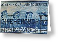 Armed Services Women Stamp Greeting Card