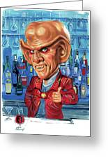 Armin Shimerman As Quark Greeting Card by Art