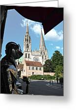 Armor And Chartres Cathedral Greeting Card
