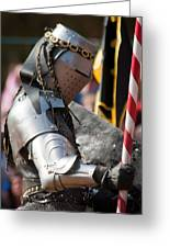 Armored Joust Knight Greeting Card