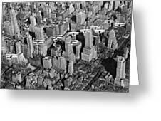 Army Air Corp Over Manhattan Greeting Card