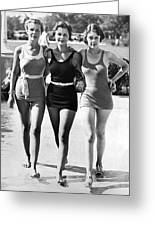 Army Bathing Suit Trio Greeting Card