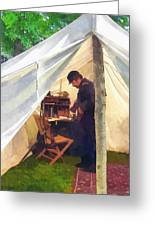Army - Civil War Officer's Tent Greeting Card