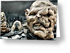 Army Of Orcs Greeting Card