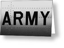 Army Strong Greeting Card