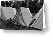 Army Tents Circa 1800s Greeting Card