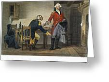 Arnold And Andre, 1780 Greeting Card