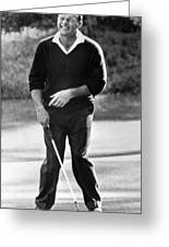 Arnold Palmer Misses A Putt Greeting Card