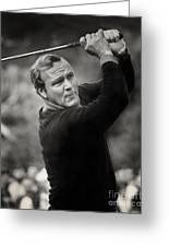 Arnold Palmer Pro-am Golf Photo Pebble Beach Monterey Calif. Circa 1960 Greeting Card