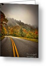 Around The Bend Clouds Along The Blue Ridge Parkway Greeting Card