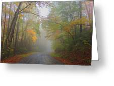 Around The Bend Greeting Card by Judy  Waller