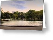 Around The Central Park Pond Greeting Card