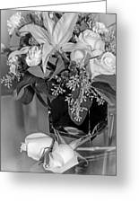 Arrangement In Black And White  Greeting Card