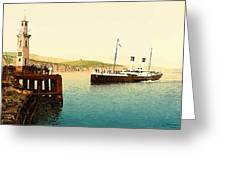 Arrival Of Boulogne Boat Folkestone - England  Greeting Card
