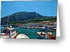 Arrival To Capri Greeting Card