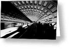 Arriving Metro Greeting Card